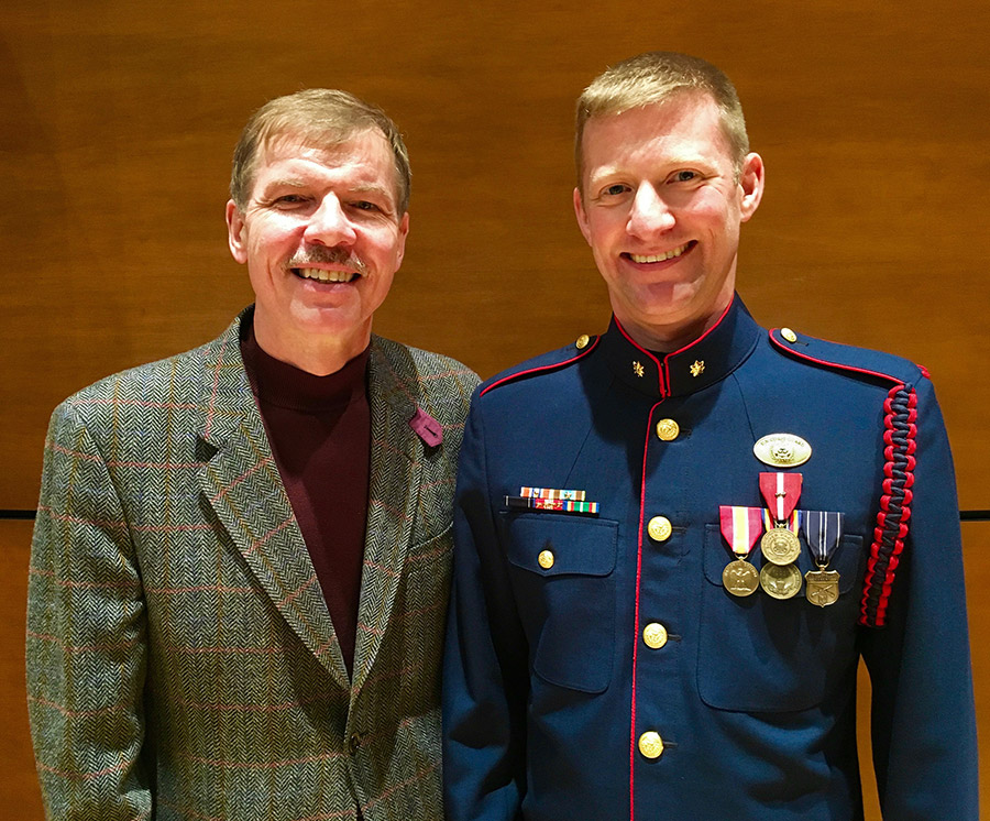 Lieutenant Commander Adam R. WIlliamson with Kenneth Fuchs