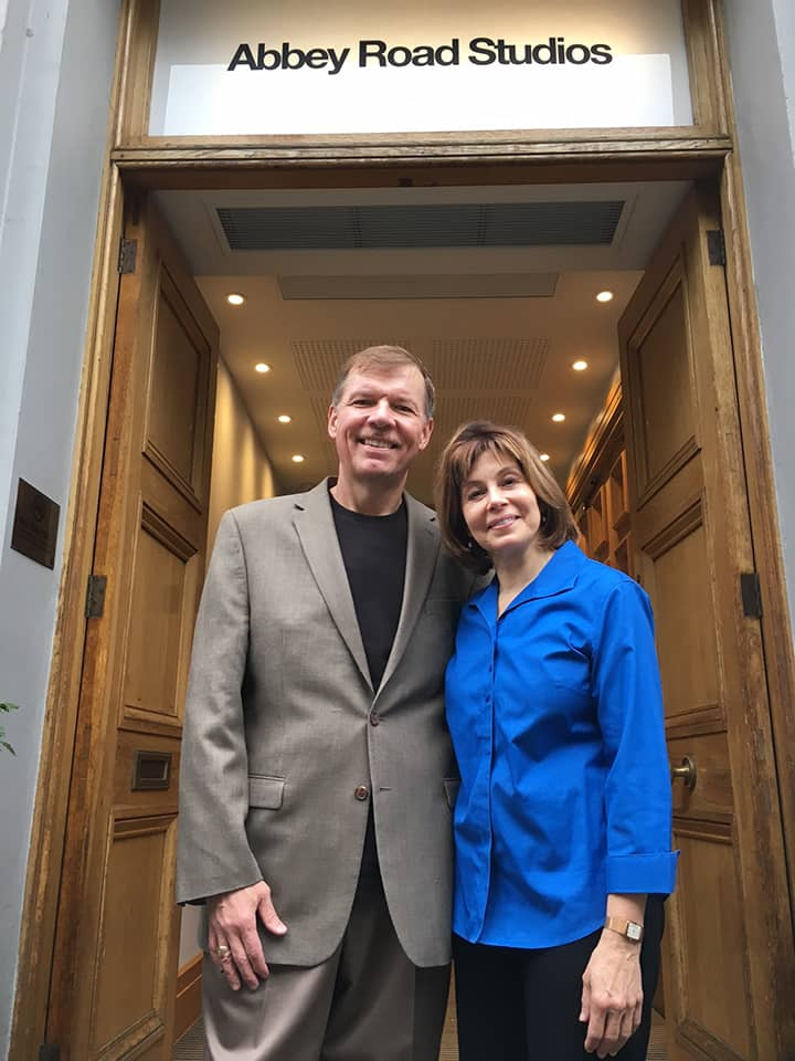 JoAnn Falletta and Kenneth Fuchs arrive at Abbey Road Studios, August 21, 2017