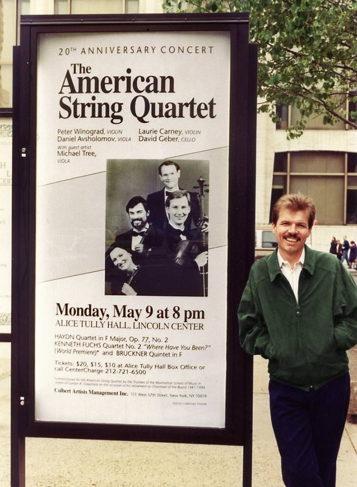 Poster for the première of String Quartet No. 2,  Alice Tully Hall, May 1994
