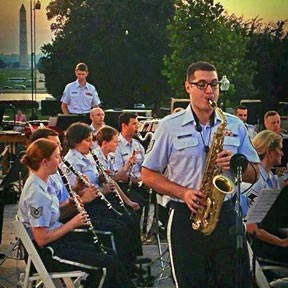 Sgt Ricky Parrell on sax